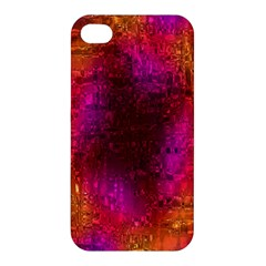 Purple Orange Pink Colorful Apple Iphone 4/4s Hardshell Case by yoursparklingshop
