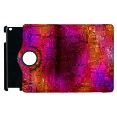Purple Orange Pink Colorful Apple Ipad 2 Flip 360 Case by yoursparklingshop