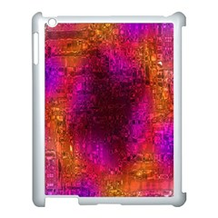 Purple Orange Pink Colorful Apple iPad 3/4 Case (White) by yoursparklingshop