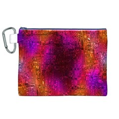 Purple Orange Pink Colorful Canvas Cosmetic Bag (xl)  by yoursparklingshop