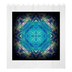 Boho Hippie Tie Dye Retro Seventies Blue Violet Shower Curtain 66  X 72  (large)  by CrypticFragmentsDesign