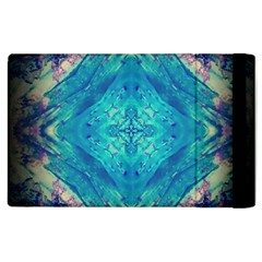 Boho Hippie Tie Dye Retro Seventies Blue Violet Apple Ipad 3/4 Flip Case by CrypticFragmentsDesign