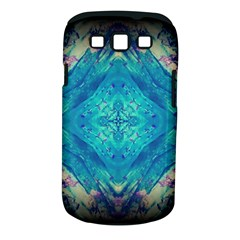 Boho Hippie Tie Dye Retro Seventies Blue Violet Samsung Galaxy S Iii Classic Hardshell Case (pc+silicone) by CrypticFragmentsDesign