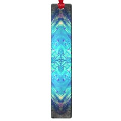 Boho Hippie Tie Dye Retro Seventies Blue Violet Large Book Marks by CrypticFragmentsDesign
