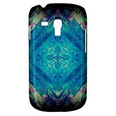 Boho Hippie Tie Dye Retro Seventies Blue Violet Samsung Galaxy S3 Mini I8190 Hardshell Case by CrypticFragmentsDesign
