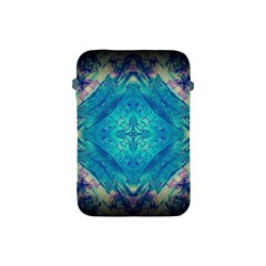 Boho Hippie Tie Dye Retro Seventies Blue Violet Apple Ipad Mini Protective Soft Cases by CrypticFragmentsDesign