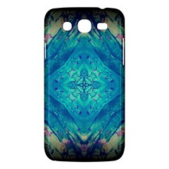 Boho Hippie Tie Dye Retro Seventies Blue Violet Samsung Galaxy Mega 5 8 I9152 Hardshell Case  by CrypticFragmentsDesign