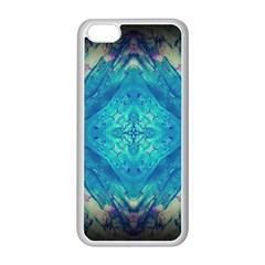 Boho Hippie Tie Dye Retro Seventies Blue Violet Apple Iphone 5c Seamless Case (white) by CrypticFragmentsDesign