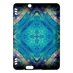 Boho Hippie Tie Dye Retro Seventies Blue Violet Kindle Fire Hdx Hardshell Case by CrypticFragmentsDesign