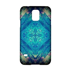 Boho Hippie Tie Dye Retro Seventies Blue Violet Samsung Galaxy S5 Hardshell Case  by CrypticFragmentsDesign