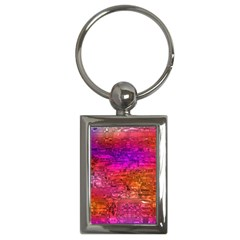 Purple Orange Pink Colorful Art Key Chains (rectangle)  by yoursparklingshop