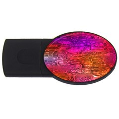 Purple Orange Pink Colorful Art Usb Flash Drive Oval (4 Gb)  by yoursparklingshop