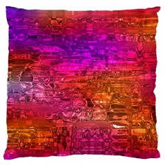 Purple Orange Pink Colorful Art Large Cushion Case (one Side) by yoursparklingshop