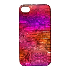 Purple Orange Pink Colorful Art Apple Iphone 4/4s Hardshell Case With Stand by yoursparklingshop