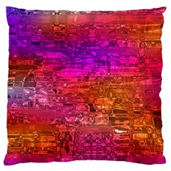 Purple Orange Pink Colorful Art Large Flano Cushion Case (one Side) by yoursparklingshop