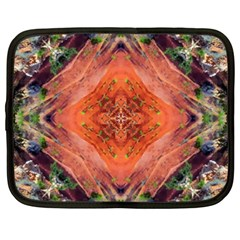 Boho Bohemian Hippie Floral Abstract Faded  Netbook Case (xxl)  by CrypticFragmentsDesign