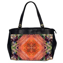 Boho Bohemian Hippie Floral Abstract Faded  Office Handbags (2 Sides)  by CrypticFragmentsDesign