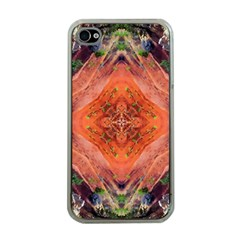Boho Bohemian Hippie Floral Abstract Faded  Apple Iphone 4 Case (clear) by CrypticFragmentsDesign