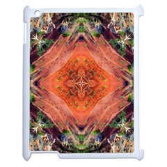 Boho Bohemian Hippie Floral Abstract Faded  Apple Ipad 2 Case (white) by CrypticFragmentsDesign