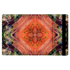 Boho Bohemian Hippie Floral Abstract Faded  Apple Ipad 2 Flip Case by CrypticFragmentsDesign