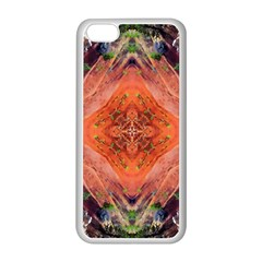 Boho Bohemian Hippie Floral Abstract Faded  Apple Iphone 5c Seamless Case (white) by CrypticFragmentsDesign