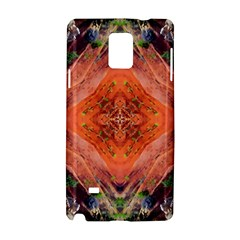 Boho Bohemian Hippie Floral Abstract Faded  Samsung Galaxy Note 4 Hardshell Case by CrypticFragmentsDesign