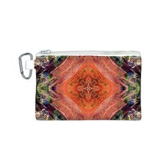 Boho Bohemian Hippie Floral Abstract Faded  Canvas Cosmetic Bag (s) by CrypticFragmentsDesign