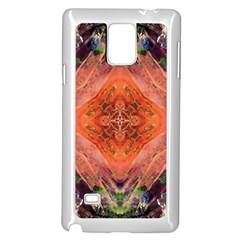 Boho Bohemian Hippie Floral Abstract Faded  Samsung Galaxy Note 4 Case (white) by CrypticFragmentsDesign