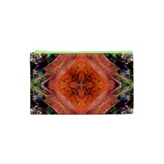 Boho Bohemian Hippie Floral Abstract Faded  Cosmetic Bag (xs) by CrypticFragmentsDesign