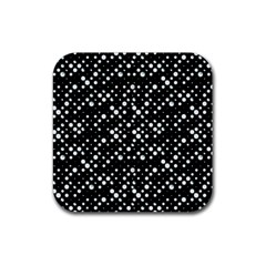 Galaxy Dots Rubber Square Coaster (4 Pack)  by dflcprints