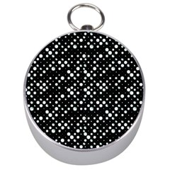 Galaxy Dots Silver Compasses by dflcprints