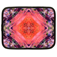 Boho Bohemian Hippie Retro Tie Dye Summer Flower Garden design Netbook Case (XXL)  by CrypticFragmentsDesign
