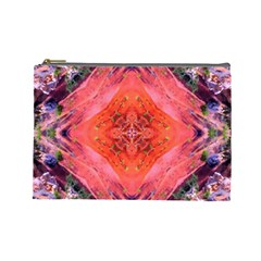 Boho Bohemian Hippie Retro Tie Dye Summer Flower Garden Design Cosmetic Bag (large)