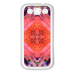 Boho Bohemian Hippie Retro Tie Dye Summer Flower Garden Design Samsung Galaxy S3 Back Case (white) by CrypticFragmentsDesign