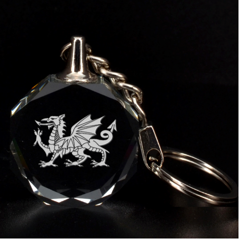 Engraved Welsh Dragon Key Chain By Rd   3d Engraving Circle Key Chain   Jshtl3lpubok   Www Artscow Com Front