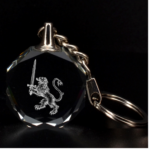 Engraved Lion With Sword Key Chain By Rd   3d Engraving Circle Key Chain   Jlv5ybdshjg3   Www Artscow Com Front
