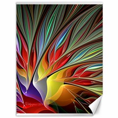 Fractal Bird Of Paradise Canvas 36  X 48  by WolfepawFractals