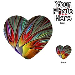 Fractal Bird Of Paradise Multi Purpose Cards (heart) by WolfepawFractals