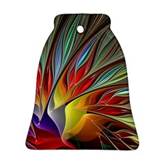 Fractal Bird Of Paradise Bell Ornament (two Sides) by WolfepawFractals