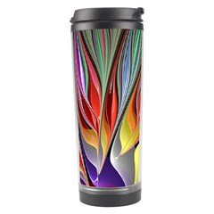 Fractal Bird Of Paradise Travel Tumbler by WolfepawFractals
