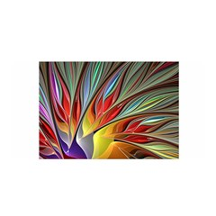 Fractal Bird Of Paradise Satin Wrap by WolfepawFractals