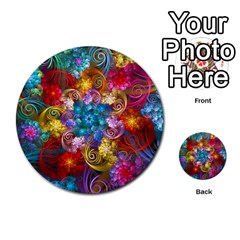 Spirals And Curlicues Multi Purpose Cards (round)  by WolfepawFractals