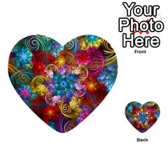 Spirals And Curlicues Multi Purpose Cards (heart)  by WolfepawFractals
