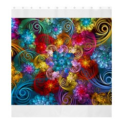 Spirals And Curlicues Shower Curtain 66  X 72  (large)
