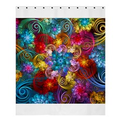 Spirals And Curlicues Shower Curtain 60  X 72  (medium)  by WolfepawFractals