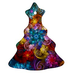 Spirals And Curlicues Ornament (christmas Tree) by WolfepawFractals