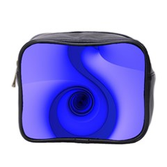 Blue Spiral Note Mini Toiletries Bag 2 Side by CrypticFragmentsDesign
