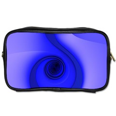 Blue Spiral Note Toiletries Bags 2 Side by CrypticFragmentsDesign