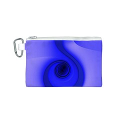 Blue Spiral Note Canvas Cosmetic Bag (s) by CrypticFragmentsDesign
