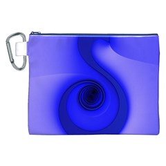 Blue Spiral Note Canvas Cosmetic Bag (xxl)  by CrypticFragmentsDesign